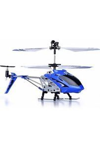 Helicopter Syma Blue Remote Control Kids Flying Toy Children Play Boys Game Gif