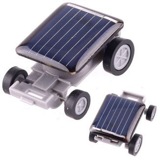 Smallest Solar Powered Robot Racing Car Toy for Kids