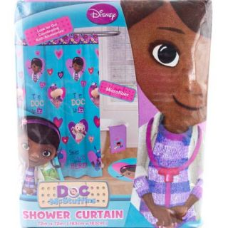 Disney Junior Doc McStuffins Bathroom Shower Curtain Girls Kids Decor Lamby