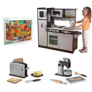 Big Fun Preschool Kids Kidcraft Girls Toy Kitchen Play Center Gift Set Premium