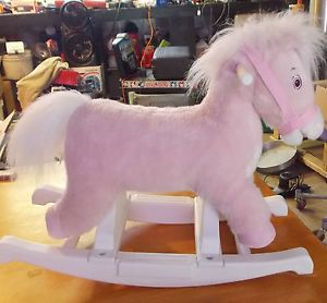 Tek Nek Rockin' Rider Dreamer The Deluxe Animated Rocking Horse with Sounds Pink
