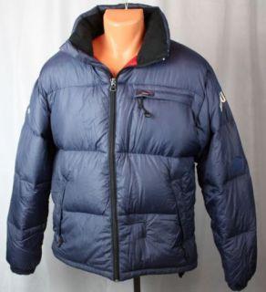 Ralph Lauren Polo Down Puffer Coat Blue M Feather Men's Jacket Winter Ski Heavy