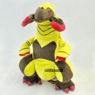 "11 5"" New RARE Pokemon Haxorus Soft Plush Toy Doll PC2062"