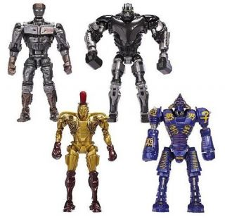 Real Steel Deluxe Figures Wave 1 Set of 4 Atom Midas Noisey Boy Zeus