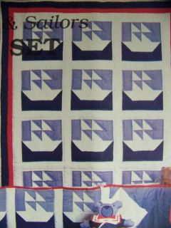 Baby Boy's Sailboat Crib Quilt Pattern