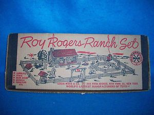 Marx Roy Rogers Ranch 3979 Set from 1952 with Ranch Kids Super Clean