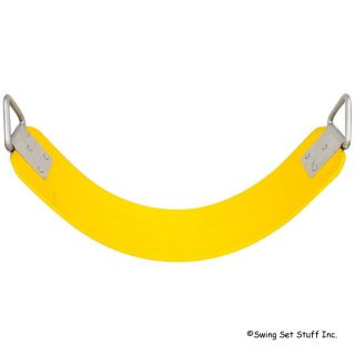Swing Seat Polymer Belt w Chain Hook Set Toy Fun Park Kids Fun Commercial 0129