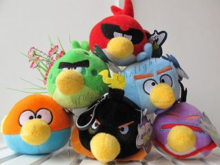 New Angry Birds Space Set of 6 3 5'' Plush Toys Kids Boys Girls Birthday Gifts