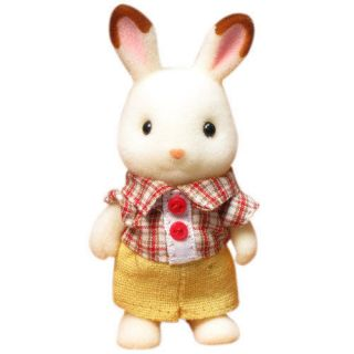 Sylvanian Families JP U 63 Chocolate Rabbit Boy Doll New