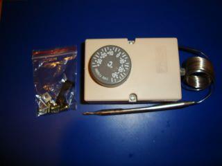 Universal Capillary Thermostat Kit 35 to 35 Deg Freezer Heating Cooling Air