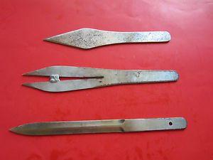 Three 3 Handmade Custom Throwing Knives Heavy Duty