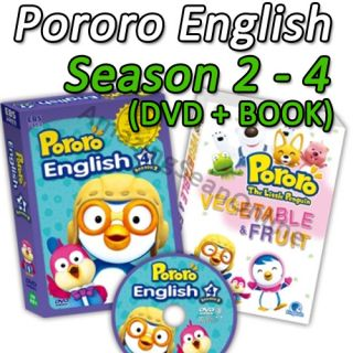 Pororo DVD Season 2 4 English Version Korean Animation Cartoon TV Character DV04