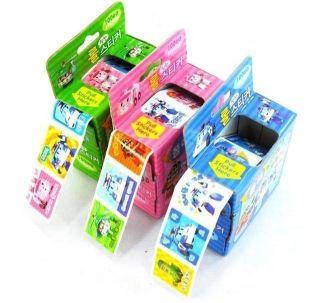 Roll of 100 Stickers Kids Toys Robocar Poli Sticker Transformer Kids Stickers