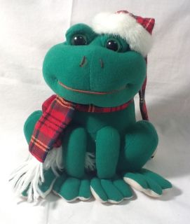 "Animated Singing Green Frog Sings ""We Wish You A Merry Christmas"" in Frog Noises"
