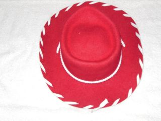 a4d76fb4 Disneyland Red Girls Cowboy Hat Yippie EI O 100 Wool Jessie Toy Story