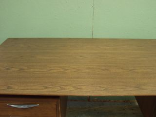 Thonet Midcentury Modern Walnut Desk Laminate Top