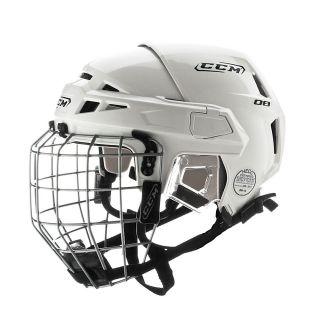 CCM Vector V08 Hockey Helmet with Cage 2011 Medium White 2011 New