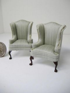 Dollhouse Half Scale Furniture 2614 Wing Chairs