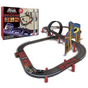 New Batman Pursuit of The Penguin Slot Car Race Set Electric Racing Track Toy