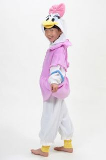 Disney Daisy Duck Costumes for Kids KIGURUMI Japanese Pajamas Halloween Costumes