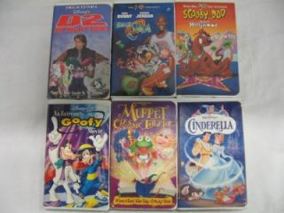Lot of 110 Children's Kids VHS Tapes Cartoons Movies Disney Toy Story Many More