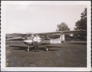 Polaroid Photo RARE 1964 Cessna 150D Airplane 304810