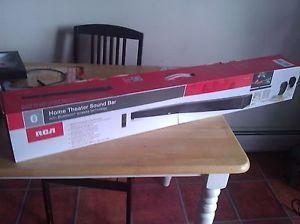 Brand New in Box RCA Home Theater Sound Bar RTS7110B 2 Black