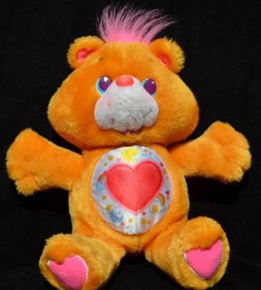 "Vintage 1991 Tenderheart Plush Environment Eco Care Bear 13"" Kenner G2 Satin"