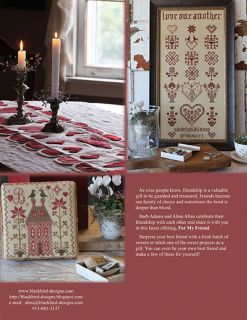 For My Friend 12 Projects Blackbird Designs New Book Cross Stitch Patterns
