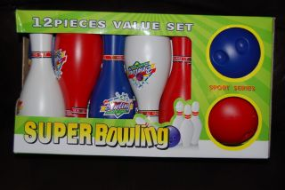 12 PC Set Kids Children Fun Safe Soft Toy Bowling Ball Pins 3 Years Old Up