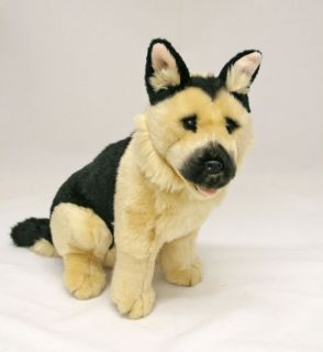 "German Shepherd Dog Plush Toy Stuffed Animal 11"" 28cm New 'Sargeant'"
