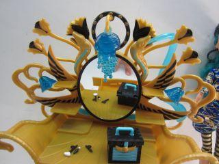 Monster High Cleo de Nile Doll Vanity Desk Chair Accessory Set Lot
