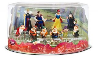 Disney Snow White and The Seven Dwarfs Deluxe Figurine Playset Toy Play Set New