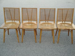 4 Eames Era Russel Wright Conant Ball 6225 Side Chairs as Is