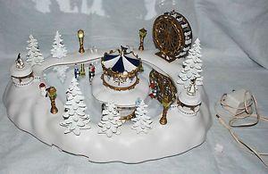 Vtg Christmas Magic Winter Wonderland Animated Ice Skaters Enchanted Carnival