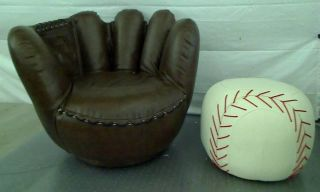 ... Crown Mark Baseball Glove Chair Ottoman MSRP $269 ...