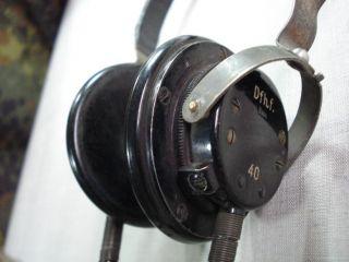 WWII 1940 Original German Wehrmacht Radio Headphones