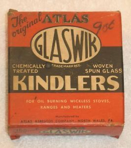 Vintage Atlas Original Glaswik Kindlers Oil Burning Stoves Ranges Heaters