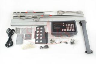 "0002"" XYZ 2AXIS Digital Readout DRO Mill Kit New Glass"