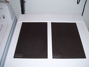 Vintage Mid Century Lancer Home Stereo Speakers Grill Covers Very Good Condition