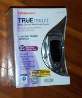 CVS True Result Blood Glucose Monitoring System Factory SEALED