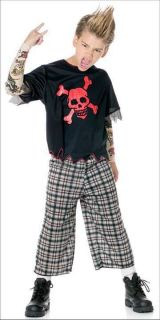 Punksta Gangster Punk Tattoo Sleeves Child Costume M