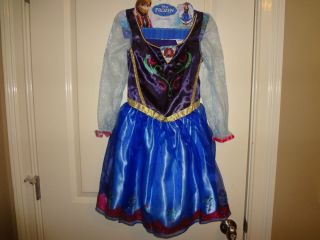 Disney Frozen Movie Anna Dress Up Costume Dress Size 4 6X Enchanting New
