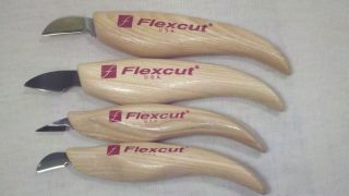 New Flexcut Wood Carving Knife Set Woodworking Tools Blades Chisel Crook Knives