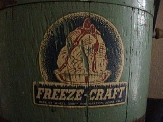 Old Wooden Ori Label Paint Complete Ice Cream Maker