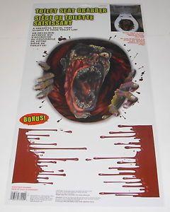 Bathroom Toilet Seat Grabber Lid Tank Vinyl Cling Horror Decal Halloween Decor