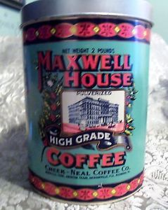 Maxwell House Coffee Tin