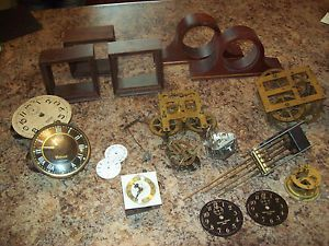 Large Lot of Clock Works Housings Elgin Waterbury Pat Date Sept 22 1874 Etc