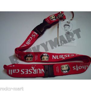 Betty Boop Nurse Lanyard ID Badges Flash Drive Key Fobs
