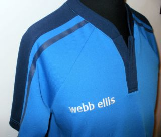 Webb Ellis Retro Pro Rugby Shirt Blue Men's Large Official Union Kit Six Nations